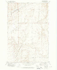 Ralston Washington Historical topographic map, 1:24000 scale, 7.5 X 7.5 Minute, Year 1972