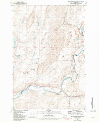 Rattlesnake Canyon Washington Historical topographic map, 1:24000 scale, 7.5 X 7.5 Minute, Year 1981