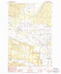 Rochester Washington Historical topographic map, 1:24000 scale, 7.5 X 7.5 Minute, Year 1986