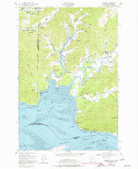 Rosburg Washington Historical topographic map, 1:24000 scale, 7.5 X 7.5 Minute, Year 1949