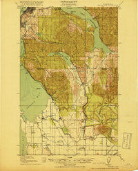 Samish Lake Washington Historical topographic map, 1:62500 scale, 15 X 15 Minute, Year 1918