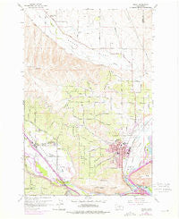 Selah Washington Historical topographic map, 1:24000 scale, 7.5 X 7.5 Minute, Year 1958