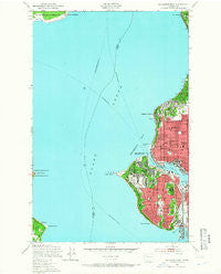 Shilshole Bay Washington Historical topographic map, 1:24000 scale, 7.5 X 7.5 Minute, Year 1949