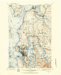 Snohomish Washington Historical topographic map, 1:125000 scale, 30 X 30 Minute, Year 1895
