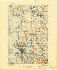 Snohomish Washington Historical topographic map, 1:125000 scale, 30 X 30 Minute, Year 1897