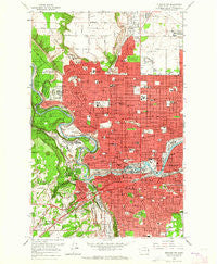 Spokane NW Washington Historical topographic map, 1:24000 scale, 7.5 X 7.5 Minute, Year 1963