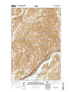 Sprague Lake Washington Current topographic map, 1:24000 scale, 7.5 X 7.5 Minute, Year 2013 from Washington Map Store