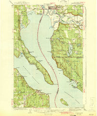 Stanwood Washington Historical topographic map, 1:62500 scale, 15 X 15 Minute, Year 1943