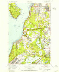 Steilacoom Washington Historical topographic map, 1:24000 scale, 7.5 X 7.5 Minute, Year 1948