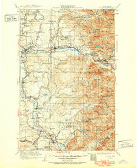 Sultan Washington Historical topographic map, 1:125000 scale, 30 X 30 Minute, Year 1921