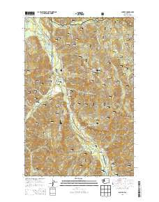 Sun Top Washington Current topographic map, 1:24000 scale, 7.5 X 7.5 Minute, Year 2014