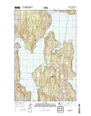 Suquamish Washington Current topographic map, 1:24000 scale, 7.5 X 7.5 Minute, Year 2014 from Washington Maps Store