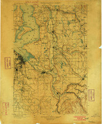 Tacoma Washington Historical topographic map, 1:125000 scale, 30 X 30 Minute, Year 1900
