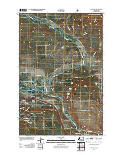 Teanaway Washington Historical topographic map, 1:24000 scale, 7.5 X 7.5 Minute, Year 2011