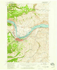 The Dalles Oregon Historical topographic map, 1:62500 scale, 15 X 15 Minute, Year 1957
