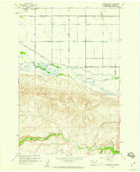 Toppenish SW Washington Historical topographic map, 1:24000 scale, 7.5 X 7.5 Minute, Year 1958