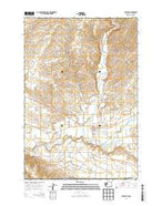 Touchet Washington Current topographic map, 1:24000 scale, 7.5 X 7.5 Minute, Year 2014 from Washington Map Store