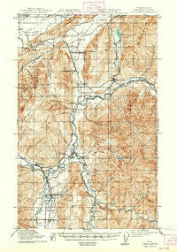 Van Zandt Washington Historical topographic map, 1:62500 scale, 15 X 15 Minute, Year 1919