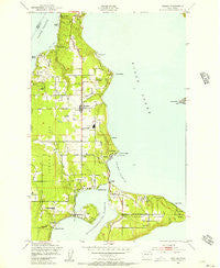 Vashon Washington Historical topographic map, 1:24000 scale, 7.5 X 7.5 Minute, Year 1949