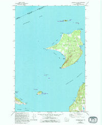 Waldron Island Washington Historical topographic map, 1:24000 scale, 7.5 X 7.5 Minute, Year 1954