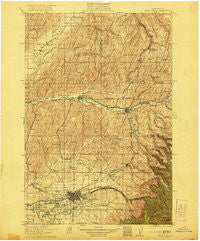 Walla Walla Washington Historical topographic map, 1:125000 scale, 30 X 30 Minute, Year 1921