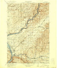 Wallula Washington Historical topographic map, 1:125000 scale, 30 X 30 Minute, Year 1918