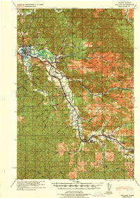 Willapa Washington Historical topographic map, 1:62500 scale, 15 X 15 Minute, Year 1943