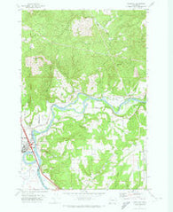 Woodland Washington Historical topographic map, 1:24000 scale, 7.5 X 7.5 Minute, Year 1971