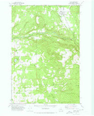 Yacolt Washington Historical topographic map, 1:24000 scale, 7.5 X 7.5 Minute, Year 1971