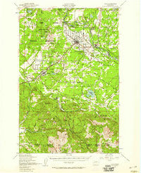 Yelm Washington Historical topographic map, 1:62500 scale, 15 X 15 Minute, Year 1949