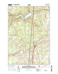 Abrams Wisconsin Current topographic map, 1:24000 scale, 7.5 X 7.5 Minute, Year 2016