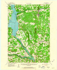 Adams Wisconsin Historical topographic map, 1:62500 scale, 15 X 15 Minute, Year 1961