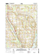 Allenton Wisconsin Current topographic map, 1:24000 scale, 7.5 X 7.5 Minute, Year 2015 from Wisconsin Maps Store