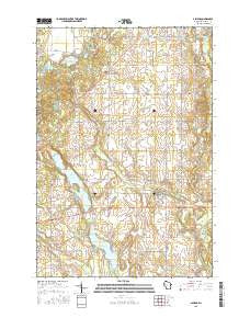 Almena Wisconsin Current topographic map, 1:24000 scale, 7.5 X 7.5 Minute, Year 2015
