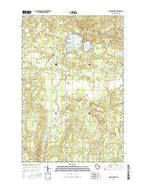 Amnicon Lake Wisconsin Current topographic map, 1:24000 scale, 7.5 X 7.5 Minute, Year 2015 from Wisconsin Map Store