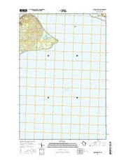 Amnicon Point Wisconsin Current topographic map, 1:24000 scale, 7.5 X 7.5 Minute, Year 2015 from Wisconsin Maps Store