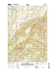 Aniwa Wisconsin Current topographic map, 1:24000 scale, 7.5 X 7.5 Minute, Year 2015 from Wisconsin Maps Store