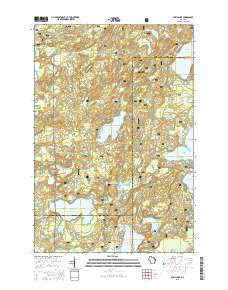 Anvil Lake Wisconsin Current topographic map, 1:24000 scale, 7.5 X 7.5 Minute, Year 2015
