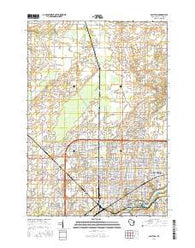 Appleton Wisconsin Current topographic map, 1:24000 scale, 7.5 X 7.5 Minute, Year 2016