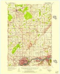 Appleton Wisconsin Historical topographic map, 1:62500 scale, 15 X 15 Minute, Year 1955