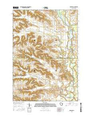 Arkansaw Wisconsin Current topographic map, 1:24000 scale, 7.5 X 7.5 Minute, Year 2015 from Wisconsin Maps Store