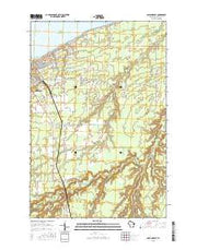 Ashland East Wisconsin Current topographic map, 1:24000 scale, 7.5 X 7.5 Minute, Year 2015 from Wisconsin Maps Store