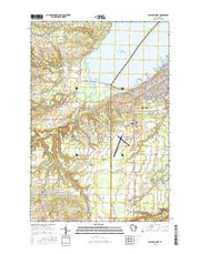 Ashland West Wisconsin Current topographic map, 1:24000 scale, 7.5 X 7.5 Minute, Year 2015 from Wisconsin Maps Store
