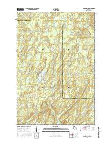 Augustine Lake Wisconsin Current topographic map, 1:24000 scale, 7.5 X 7.5 Minute, Year 2015