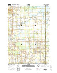 Auroraville Wisconsin Current topographic map, 1:24000 scale, 7.5 X 7.5 Minute, Year 2016