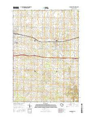 Baldwin East Wisconsin Current topographic map, 1:24000 scale, 7.5 X 7.5 Minute, Year 2015 from Wisconsin Maps Store