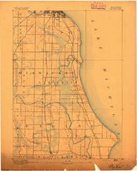 Bayview Wisconsin Historical topographic map, 1:62500 scale, 15 X 15 Minute, Year 1891