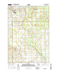 Bear Creek Wisconsin Current topographic map, 1:24000 scale, 7.5 X 7.5 Minute, Year 2016