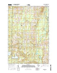 Berry Lake Wisconsin Current topographic map, 1:24000 scale, 7.5 X 7.5 Minute, Year 2016