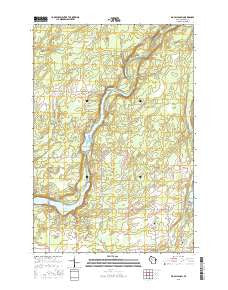 Big Falls Dam Wisconsin Current topographic map, 1:24000 scale, 7.5 X 7.5 Minute, Year 2015